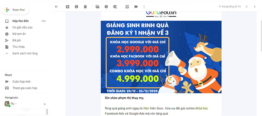 email marketing sale