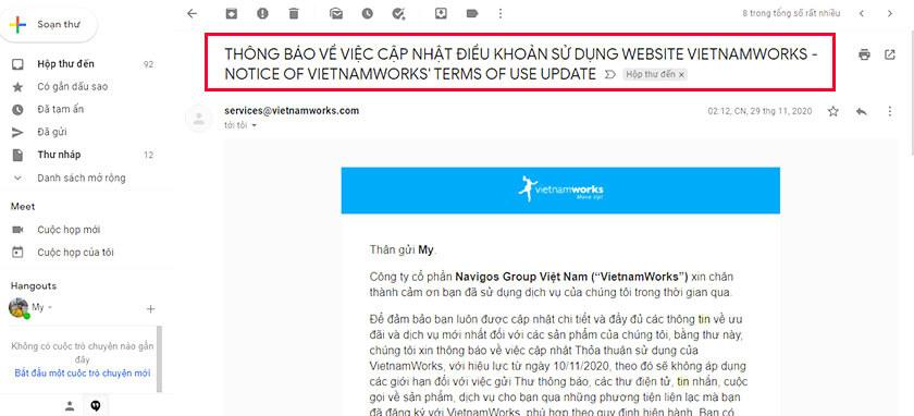 email bản tin