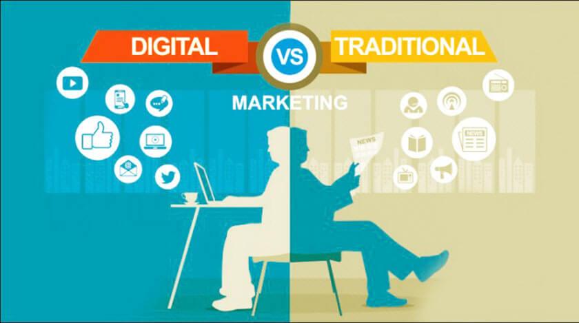 phân biệt marketing truyền thống và hiện đại